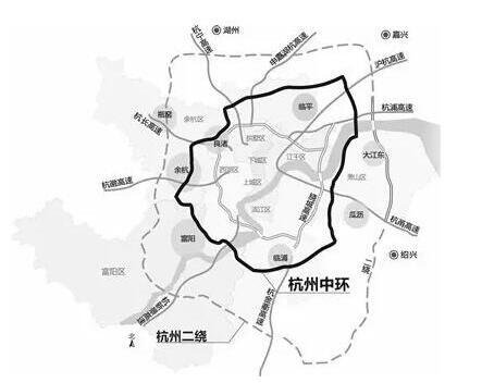 富阳市区街道地图